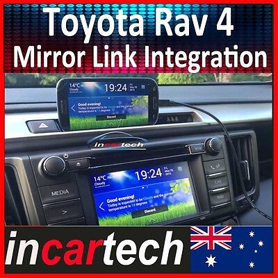 Toyota Rav4 13 14 15 WiFi Mirror Link Box iPhone IOS Airplay Android Miracast