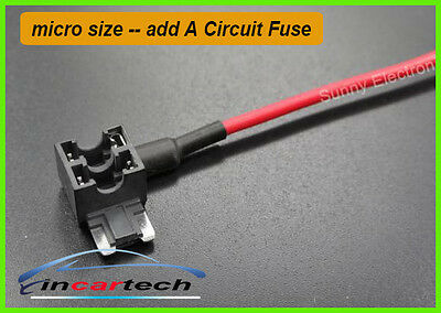 1 x Add A Circuit Fuse Tap Micro Size Blade Fuse Holder ATM APM 12v 24v Aus