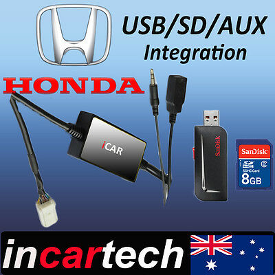 Honda Accord / Euro Yr 03-11 Factory Radio  USB /AUX /SD Adaptor Australian