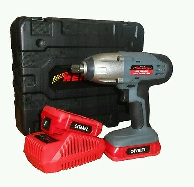"""24V 1/2"""" Cordless Impact Wrench with 2 Lithium-ion batteries. New In Box. CT3730"""