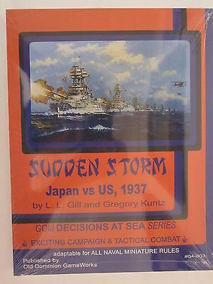 General Quarters 'Sudden Storm' Supplement, US vs Japan 1937 by ODGW