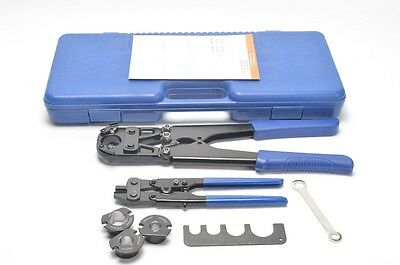 "Pex Pipe Crimping Tool for 3/8"", 1/2"", 3/4"", 1"" with Ring Remove tool F1807"
