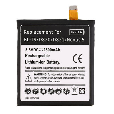 Black 2300mAh Li-Ion Battery Replacement for LG BL-T9/NEXUS 5 Quality New QT