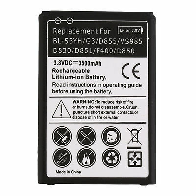3500mAh Secondary Li-Ion Battery Replacement for LG BL-53YH/G3/D855 New QT