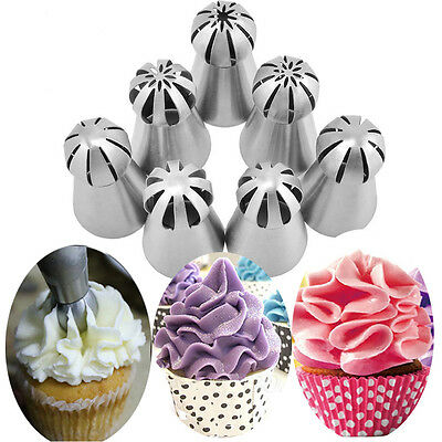 7Styles Sphere Ball Russian DIY Pastry Cake Icing Piping Decor Nozzles Tips Tool