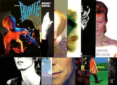 DAVID BOWIE various 2016 bunch/set 12 X POSTCARDS official licensed merchandise
