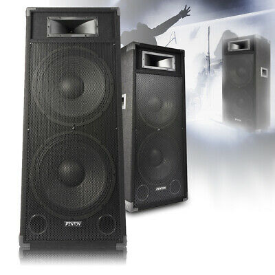 "Pair Dual 15"" Active Powered DJ Speakers Disco Party System Skytec CSB215 3200W"