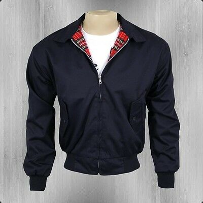 50er/60er Oldschool James Dean Rockabilly Harrington Jacke England schwarz