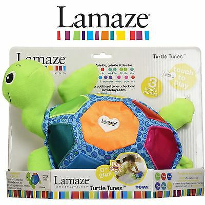 Lamaze Turtle Tunes Vibrant Colour Baby Toddler Soft Plush Auditory Musical Toy