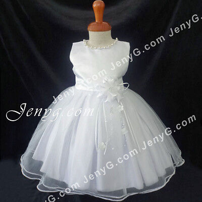 #NLW6 Baby Girls Christening Baptism First Holy Communion Church Gowns Dresses