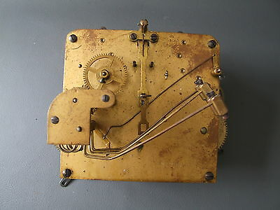 Vintage German chiming mantel clock movement for repair or spares or steampunk