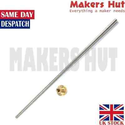 THSL 8mm Lead Screw T8 – 8mm Lead – Length 300mm 500mm with Nut