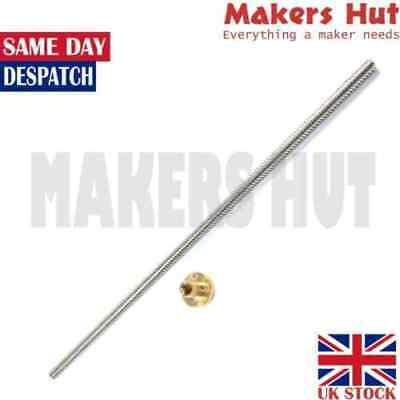 THSL 8mm Lead Screw T8 - 8mm Lead - Length 300mm 500mm with Nut