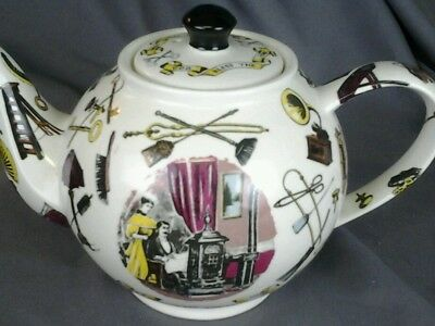 English Designer Paul Cardew's Teapot depicting Hearth and Family