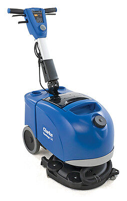 "NEW Clark Vantage 14 Battery 14.5"" floor scrubber w/ battery, charger, brush"