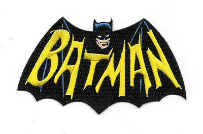 Batman 1960's TV Show Cape and Name Logo Embroidered Patch Large Version UNUSED