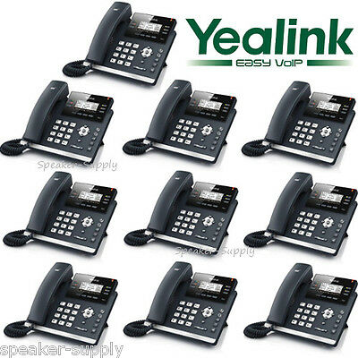 Yealink T42G 10 Case Lot Set IP Phone VoIP Telephone POE Business Office Gigabit