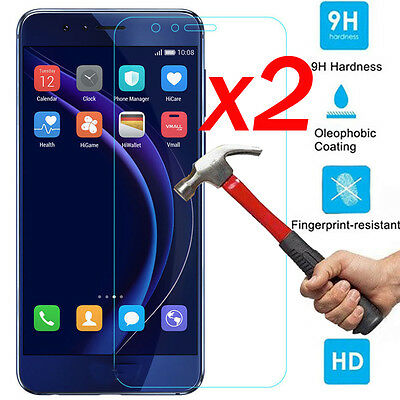 2x Real Clear Tempered Glass Screen Protector Film Guard For Huawei Cell Phone