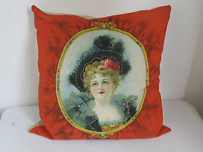 Antique Victorian Lady Portrait Pillow