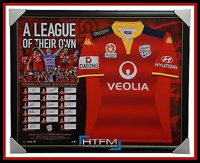 2016 A-League Champions Adelaide United Jersey with Team Signed Cards Framed