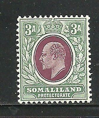 Album Treasures Somaliland Protectorate Scott # 44  3a Edward VII  MH