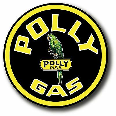 ROUND 4 inch POLLY V3 GASOLINE LUBSTER PROJECT DECAL GAS OIL CAN PUMP STICKER