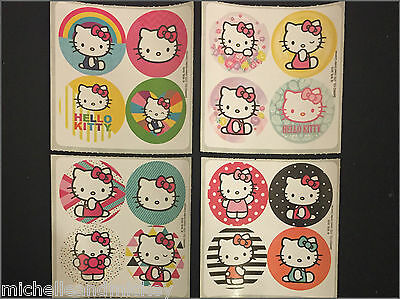 Hello Kitty Mini Dot Stickers x 8 sheets - 32 dots - Hello Kitty Stickers Party