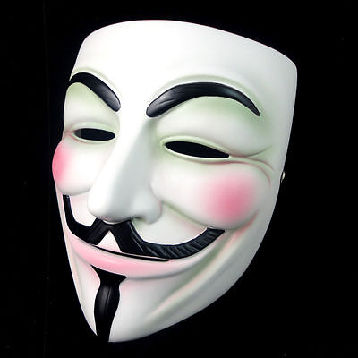 New V For Vendetta Resin mask Occupy Wall Street Guy Fawkes Cosplay Prop 005
