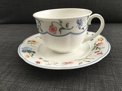 villeroy and boch mariposa design bone china cup saucer discontinued. Black Bedroom Furniture Sets. Home Design Ideas