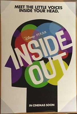 INSIDE OUT MOVIE POSTER 2 Sided ORIGINAL Advance INTL 27x40 AMY POEHLER