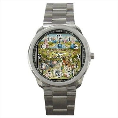 The Garden of Delights Hieronymus Bosch Stainless Steel Watches