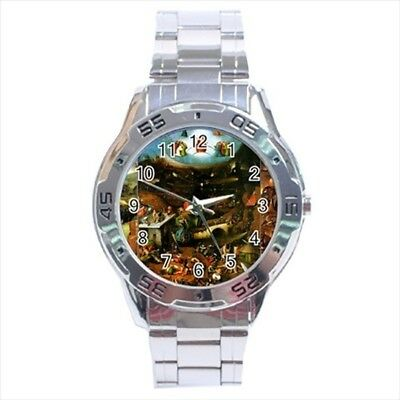 The Last Judgement Hieronymus Bosch Stainless Steel Watches - Painting (Art)