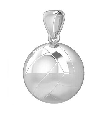 New 0.925 Sterling Silver 3D Large Tennis Ball Sports Charm Pendant