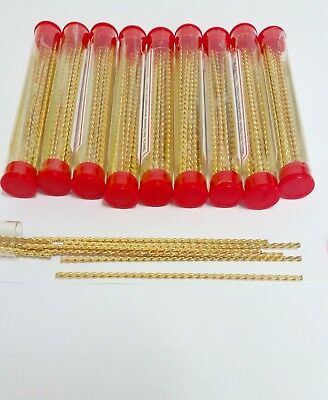 100 pieces - 24k Golden Plated Twist Plate Strengthener Wire -- FREE SHIPPING