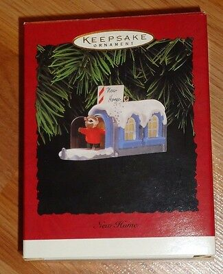 Hallmark NEW HOME Christmas Ornament 1996 NIB Chipmunk in Mailbox