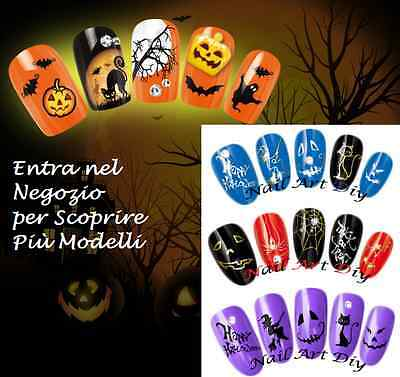 Nail Art Water Transfer Stickers-Tattoo Adesivi-HALLOWEEN-Decorazione Unghie !!!