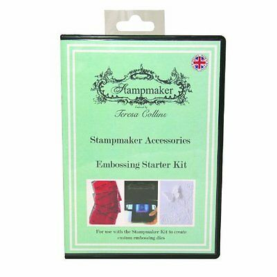 Teresa Collins Stampmaker 8-Piece Embossing Kit, Clear