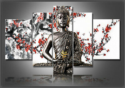 MODERN ABSTRACT OIL PAINTING Feng Shui Buddha Painting Canvas Wall Art Framed 46