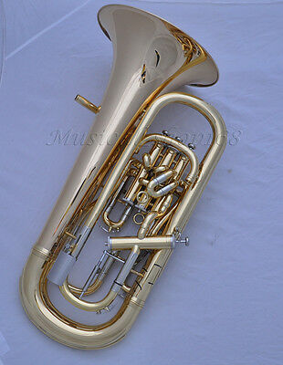 Professional Gold Bb Compensating system Euphonium Trigger horn with case