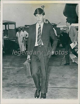 1963 Prince Charles Arrives at London Airport Original News Service Photo