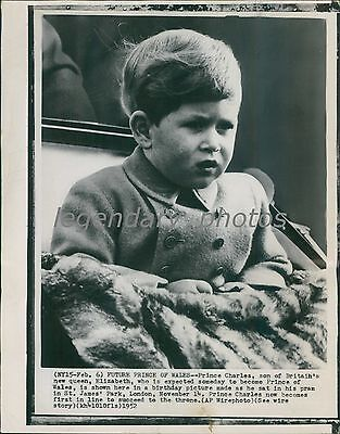 1952 Prince Charles Sat for Birthday Picture in Park Original Wirephoto