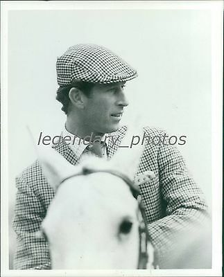 Prince Charles of England on a Horse Original News Service Photo