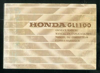 Manuel du Conducteur HONDA GL 1100 GOLDWING 1980/81 Owners Manual Fahrerhandbuch