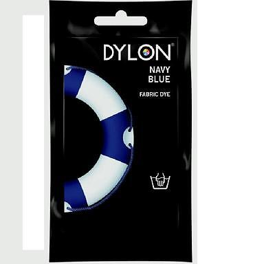 Genuine Dylon NAVY BLUE Fabric & Clothes Dye Hand Use FREE 1ST CLASS POST