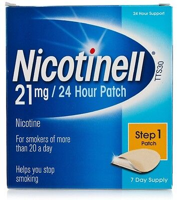 Nicotinell Nicotine 21mg 24 Hour Patches Step 1 (7) *S*