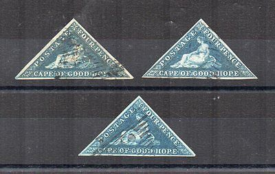 South Africa - Cape of Good Hope 3 x 4d blue triangular FU