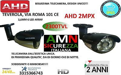 TELECAMERA VIDEOSORVEGLIANZA AHD 2MPX 3,6mm ALTA QUALITA' 6 LED ARRAY INFRAROSS