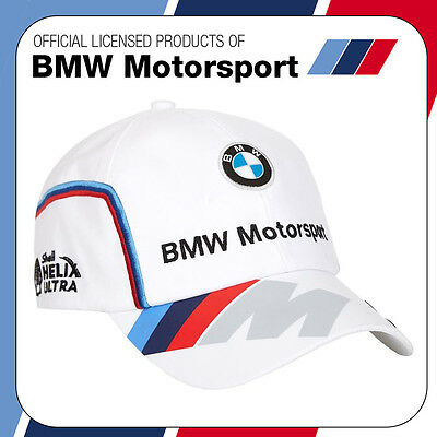 New! 2016 Official Puma BMW Motorsport Race Team Cap White - Adult One Size