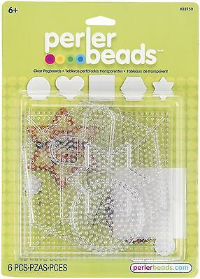 Perler Beads Small & Large Basic Clear Pegboards- 6 Count PRL22750 048533227501