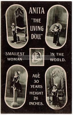 Anita the Living Doll c.1912 - Smallest Woman - Sideshow Bostock